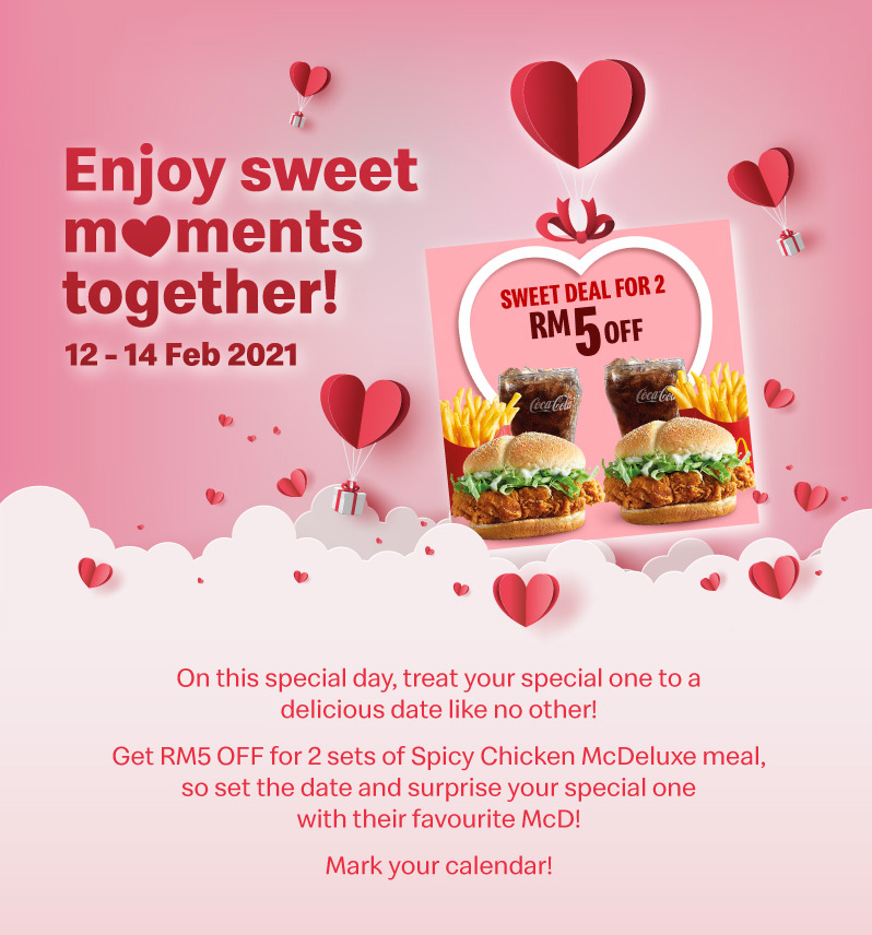 On this special day, treat your special one to a delicious date like no other!