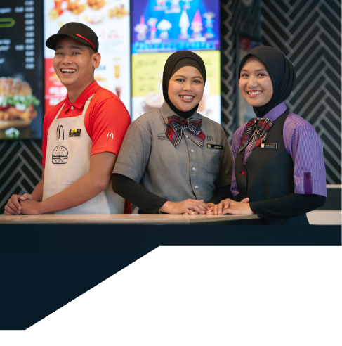 Happy McD's staff