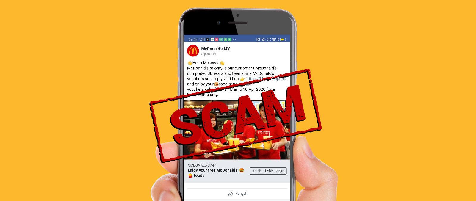 SCAM Alert: Free McDonald's Vouchers and Gift Card's image'