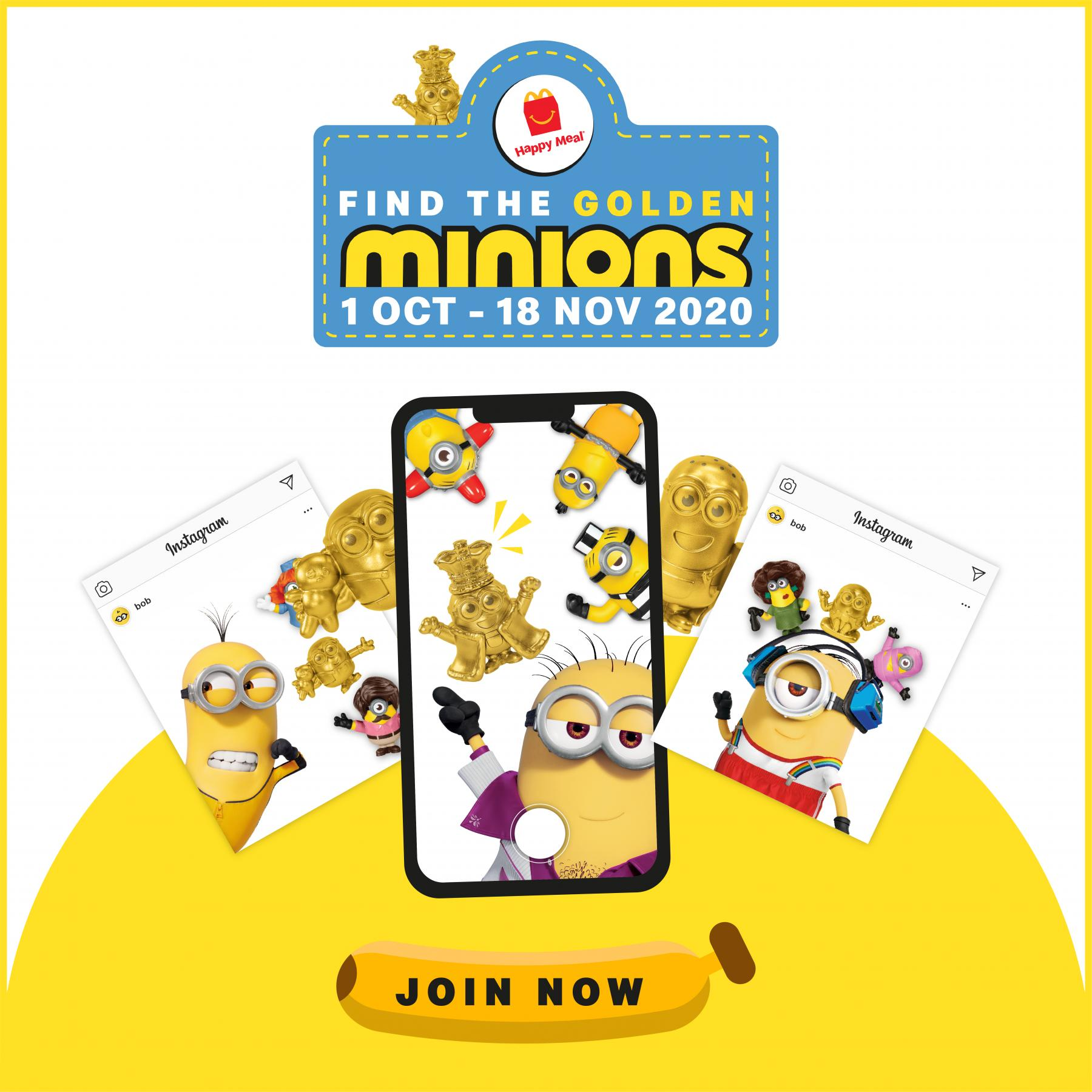 Mcdonald S Malaysia Find The Golden Minions